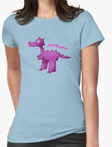 Purple T-Rex Womens Fitted T-Shirt