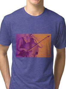 Cello player drawing. Tri-blend T-Shirt