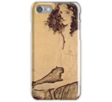 Egon Schiele - Girl In Black 1911 iPhone Case/Skin