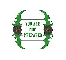 You are not prepared - Dual-Blades Photographic Print