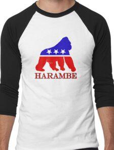 Harambe Vote  Men's Baseball ¾ T-Shirt