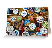 Spools Greeting Card