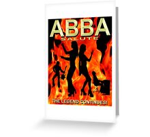 ABBA SALUTER - THE LEGEND CONTINUES POSTER HQ. Greeting Card