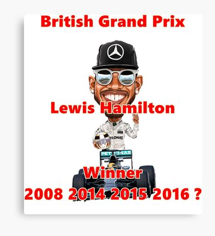 2016 British GP Winner Canvas Print