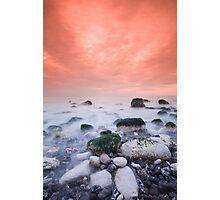 Warm coastal sunset Photographic Print