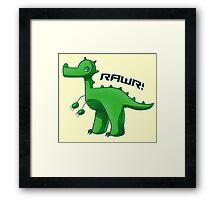 Green T-Rex Framed Print