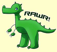 Green T-Rex Photographic Print