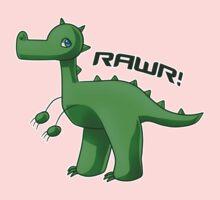 Green T-Rex One Piece - Short Sleeve