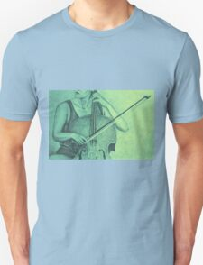 Cello player drawing. Unisex T-Shirt