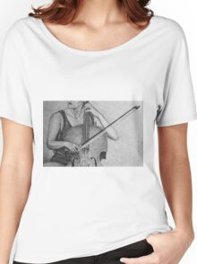 Cello player drawing. Women's Relaxed Fit T-Shirt
