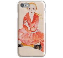 Egon Schiele - Seated Girl Facing Front 1911 iPhone Case/Skin