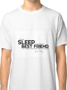 sleep is called our best friend - jules verne Classic T-Shirt