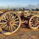 Ancient Cart at Marree Station, South Australia. by George Petrovsky