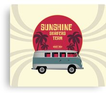 Sunshine Surfers Team Canvas Print