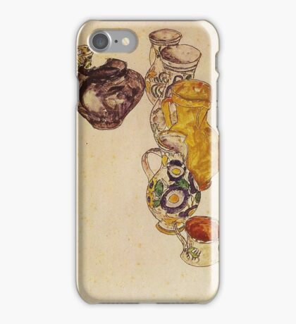 Egon Schiele - Peasants Jug 1918 iPhone Case/Skin