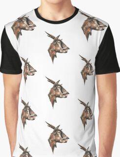 Goat Salivating Graphic T-Shirt