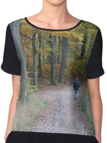 Northern Walking In Wienerwald, Vienna Austria Chiffon Top