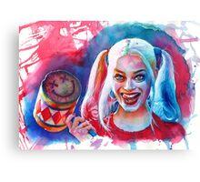 Crazy Margot Robbie Canvas Print