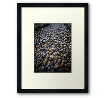 Unraked Zen Framed Print