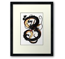 The Black dragon - dragonball shenron Framed Print