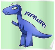 Blue T-Rex Poster