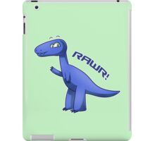 Blue T-Rex iPad Case/Skin