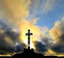 Easter Cross ~ digital paint effect by Sharon Soberon