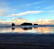 Sunrise beach walk 1 by Janine Barr