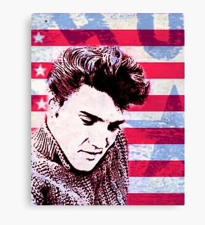 Elvis portrait nº1 Canvas Print
