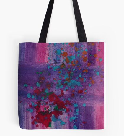 Blupurpink with a splash Tote Bag