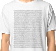every Twenty One Pilots song/lyric off Vessel Classic T-Shirt