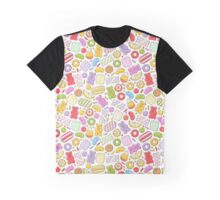 Colorful sweets background -  sketch style. Graphic T-Shirt