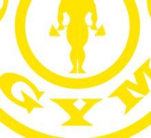 gold gym motivation style Sticker