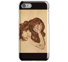 Egon Schiele - Female Nude Lying On Her Stomach 1917 iPhone Case/Skin