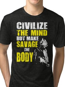 Make Savage The Body (Super Saiyan) Tri-blend T-Shirt