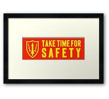 safety motto: Nike Missile Site. VividScene Framed Print