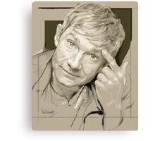 Martin Freeman Artwork Pencil Canvas Print