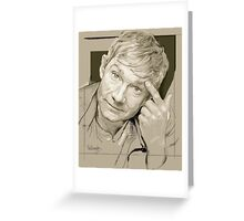 Martin Freeman Artwork Pencil Greeting Card