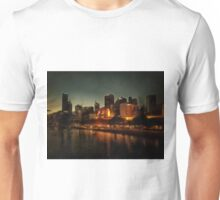 Waterside view of Melbourne at night Unisex T-Shirt