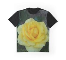 Yellow Tea Rose Graphic T-Shirt