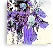 Purple Bountiful Bouquet Abstract Canvas Print
