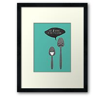 Little Spoon Framed Print
