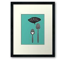 Little Spoon Framed Print