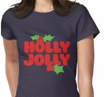 Holly Jolly Womens Fitted T-Shirt