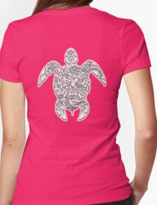 TURTLE, Tortoise, Tribal, Tattoo, reptile Womens Fitted T-Shirt