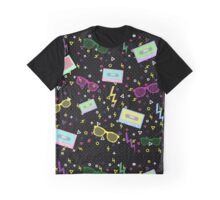 1980 Style multi colored Pattern 80s Graphic T-Shirt