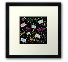1980 Style multi colored Pattern 80s Framed Print