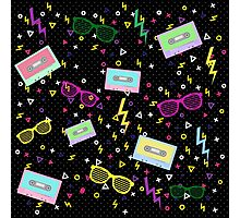 1980 Style multi colored Pattern 80s Photographic Print
