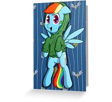 Dashie in a Hoodie Greeting Card