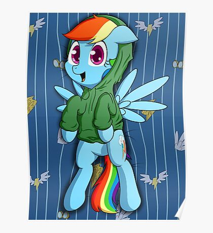 Dashie in a Hoodie Poster